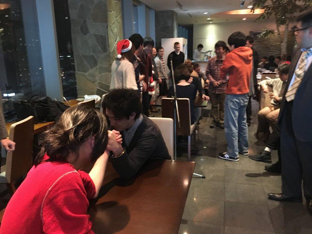 2017年度INDETAIL忘年会 腕相撲