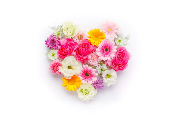 ヒトのハートを花で表現